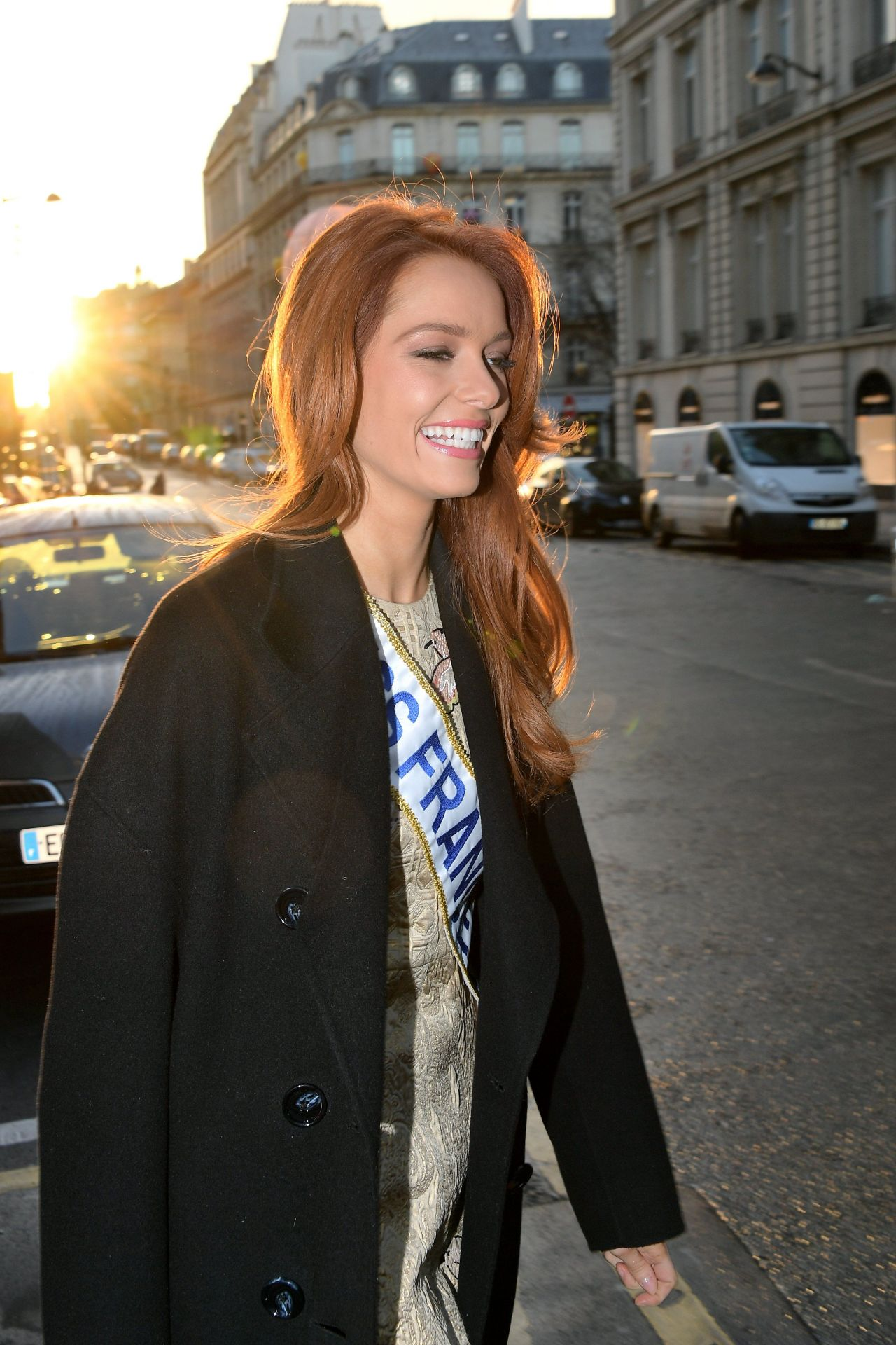 Maeva Coucke (Miss France 2018) - Out in Paris