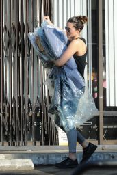 Mandy Moore - Picks Up Her Dry Cleaning in LA