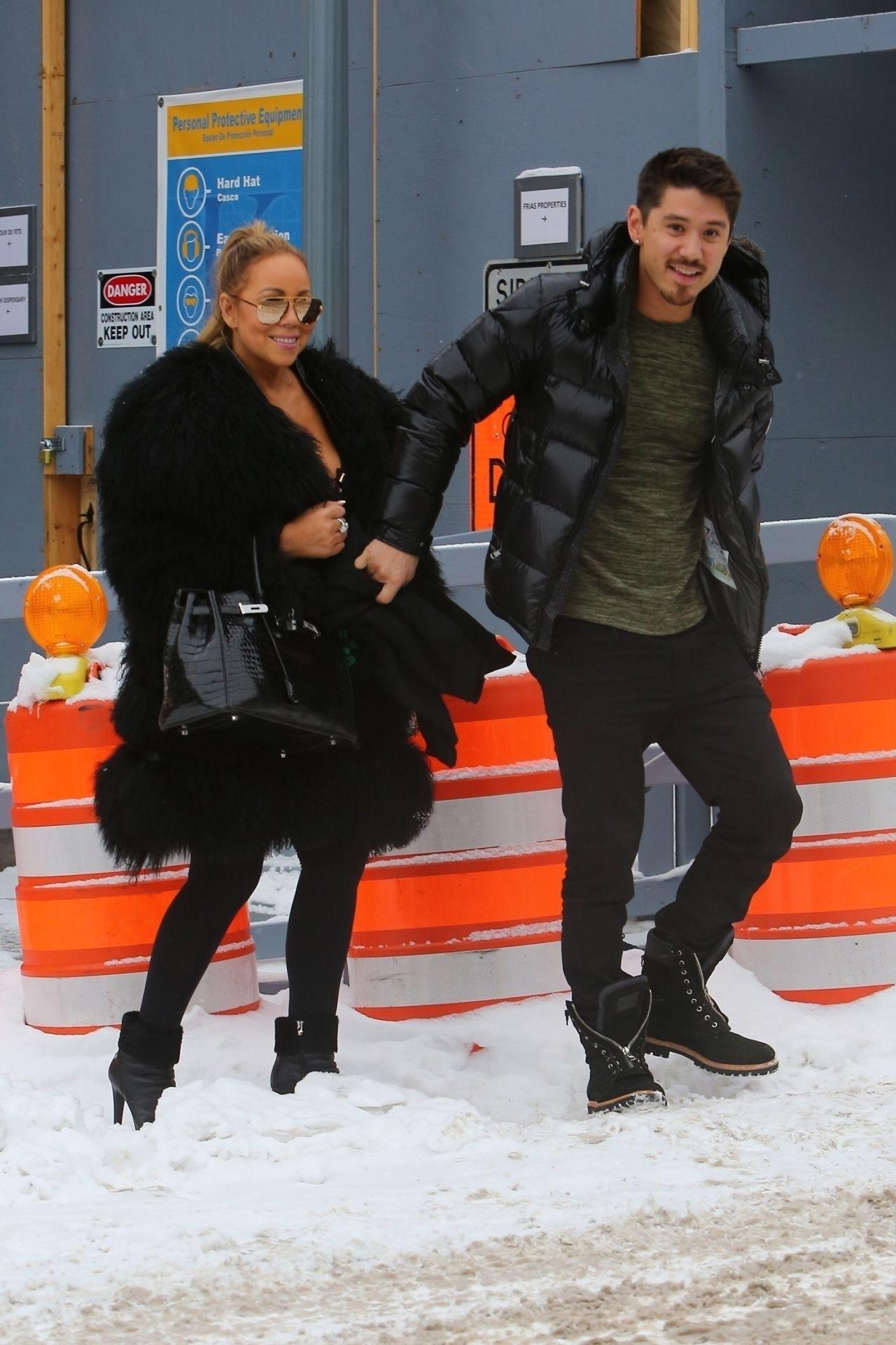 Mariah Carey - Leaving Louis Vuitton 12/23/2017