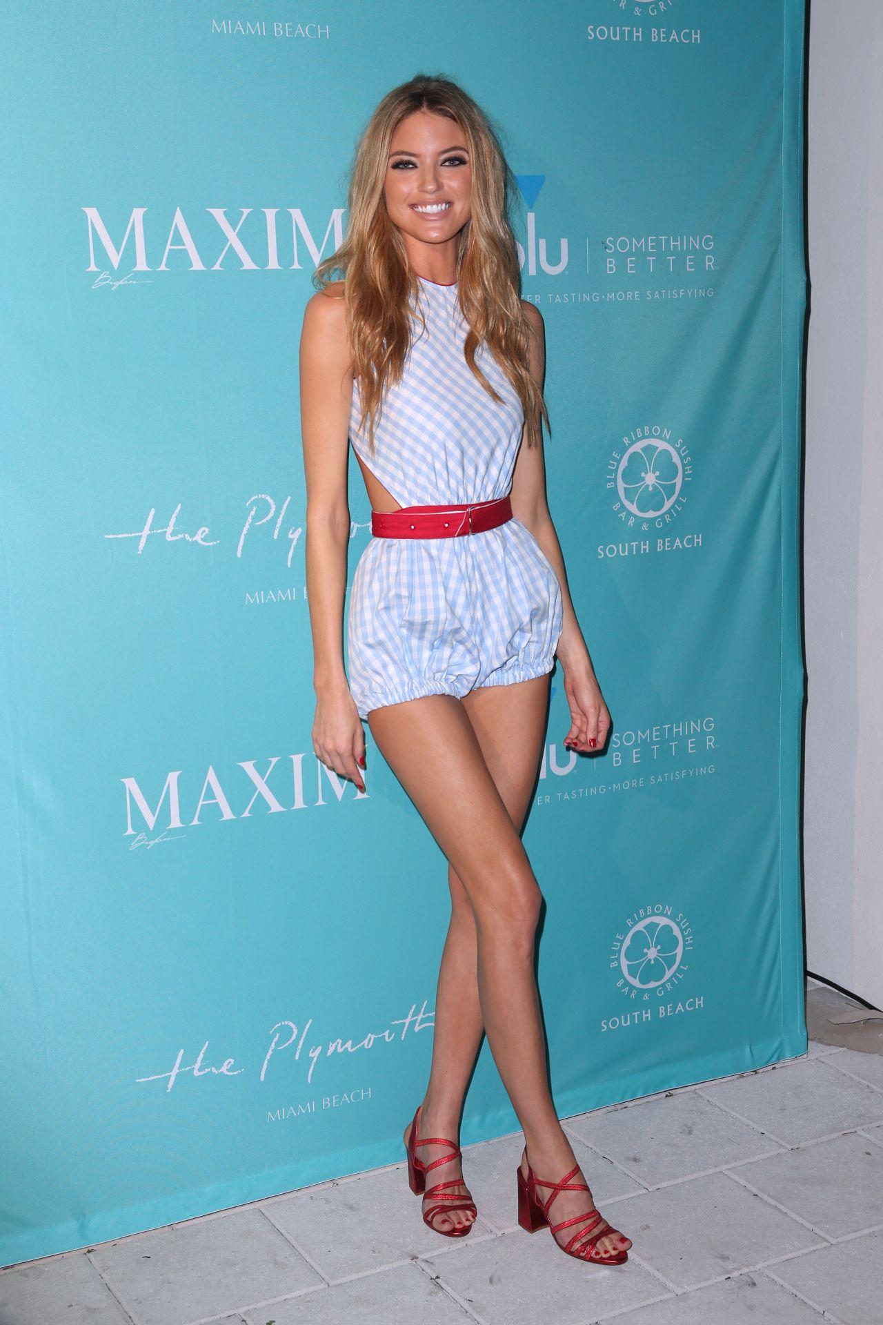 Martha Hunt Maxim December 2017 Miami Issue Party