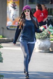 Megan Fox Street Style - Leaves Pinz Bowling Alley in Studio City