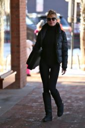Melanie Griffith Shopping in Aspen
