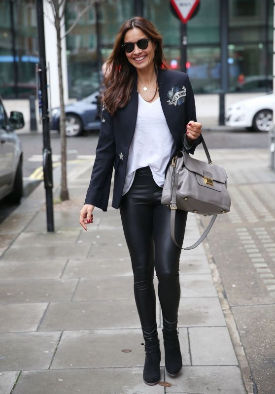 Melanie Sykes - Arriving for Radio 2 New Years Eve Special in London