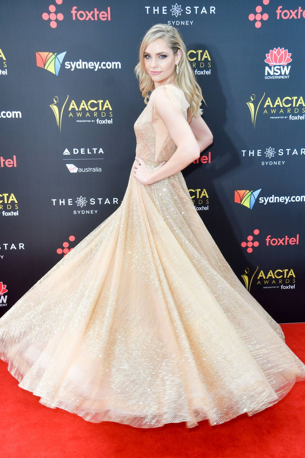 Melina Vidler Aacta Awards 2017 Red Carpet In Sydney