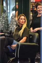 Michaella McCollum in Casual Outfit at Monet Hair Salon in Belfast