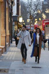 Michelle Keegan - Christmas Shopping in London 12/13/2017