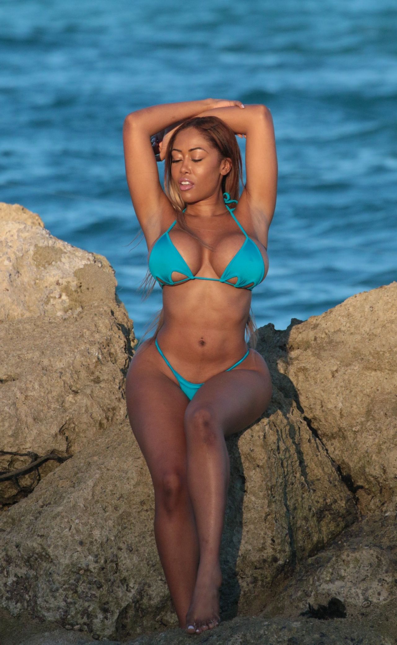 Moriah Mills in Bikini Photoshoot on the beach in Miami Pic 10 of 35