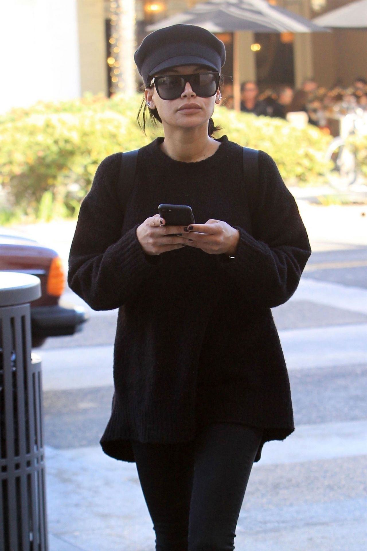 Naya Rivera Leaves a Salon in Beverly Hills 12/28/2017