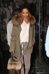 Nicole Murphy at Catch LA Seafood Restaurant