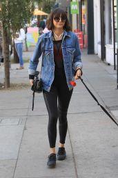 Nina Dobrev - Takes Her Dog For a Walk in Hollywood 12/16/2017