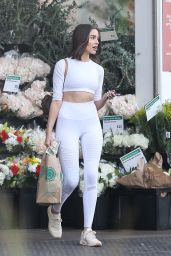Olivia Culpo in Tights Shops for Groceries at Whole Foods