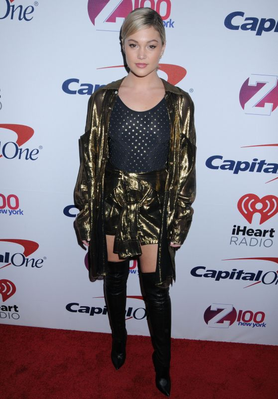 Olivia Holt – Z100s Jingle Ball 2017 in NYC