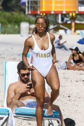 Rachel Lindsay in Swimsuit - Miami Beach 12/21/2017