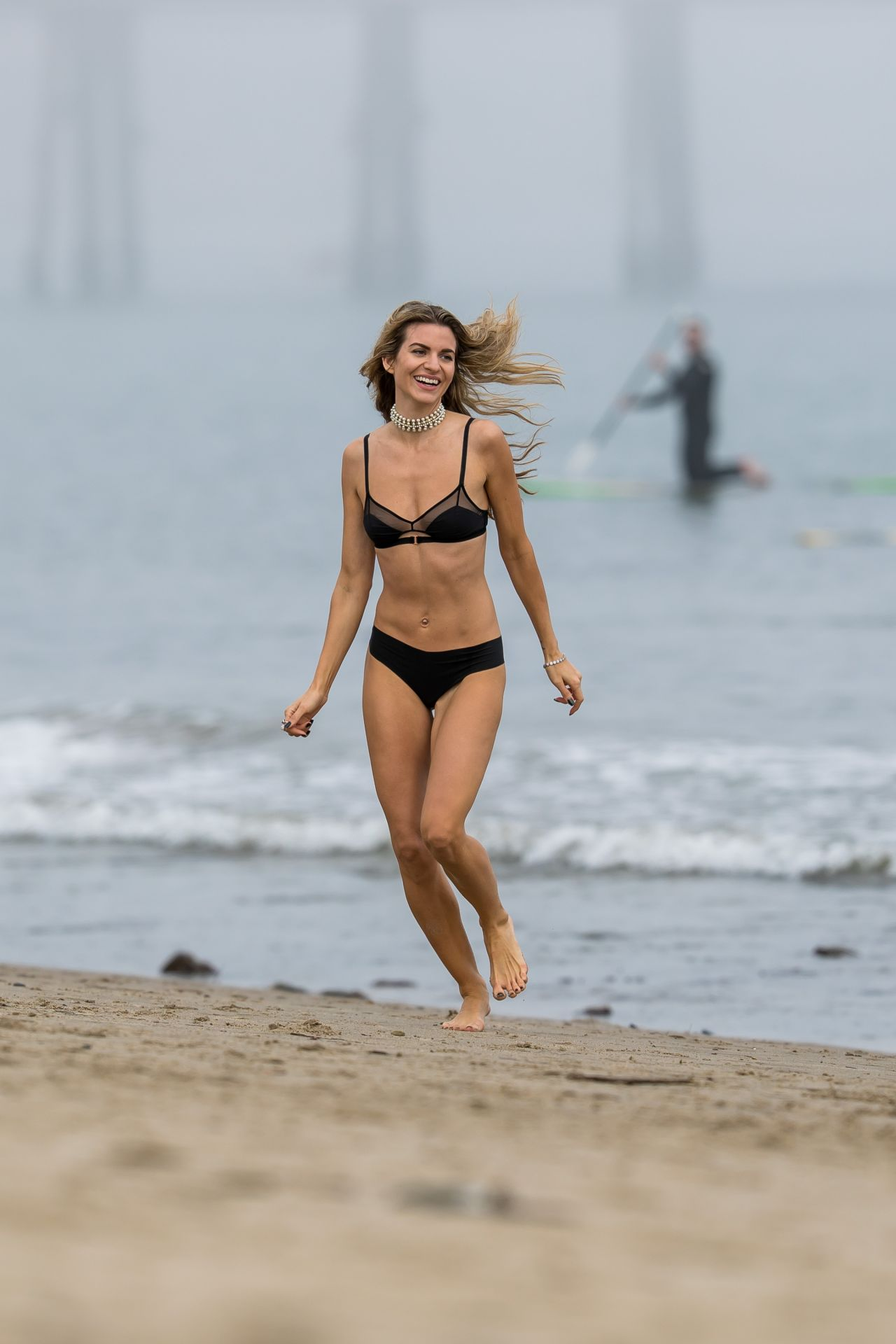 Rachel McCord in Black Bikini at a beach in Malibu Pic 10 of 35