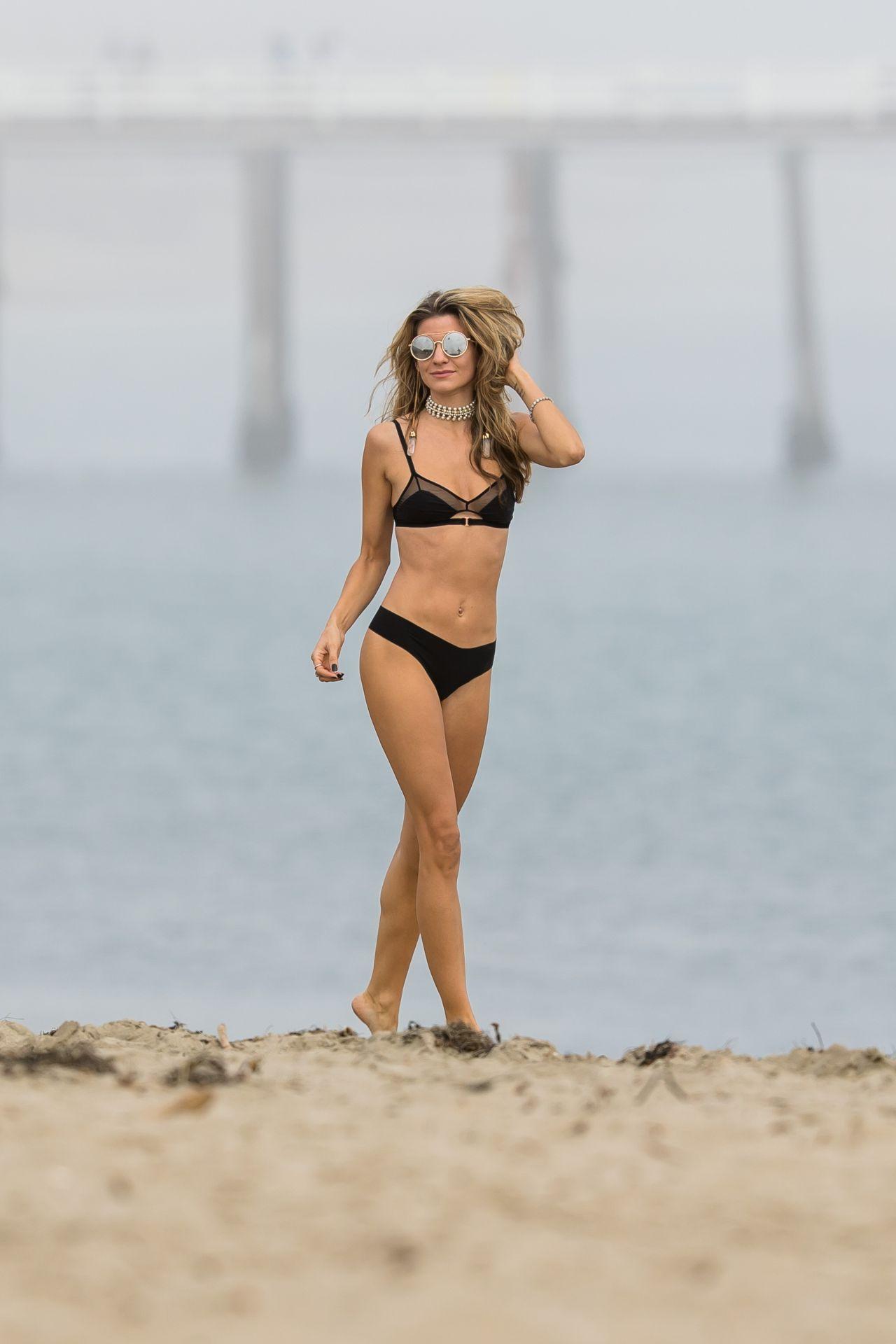 Rachel McCord in Black Bikini at a beach in Malibu Pic 8 of 35