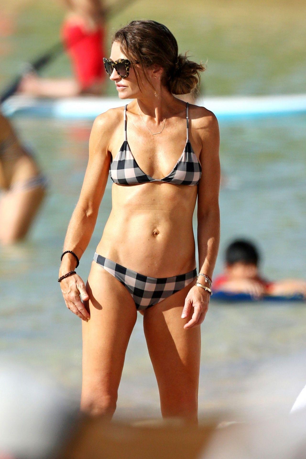 Rebecca Gayheart In Bikini On The Beach In Oahu-3727