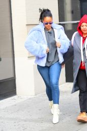 Rihanna - Leaving The Blond Hotel in NYC 12/09/2017