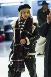 Rita Ora at JFK Airport in NYC 12/18/2017