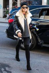 Rita Ora in Moto Jacket - Leaving Her Hotel in NYC