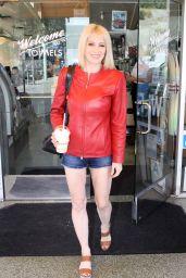 Sara Barrett Leggy in Shorts - Leaving Mel