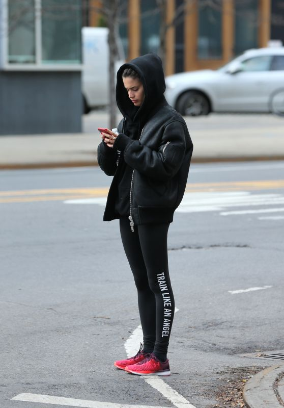 Sara Sampaio in Tights - Leaving the Dogpound Gym in NY