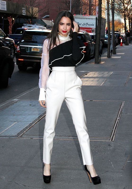 """Sofia Carson Arriving at """"The View"""" in New York City"""