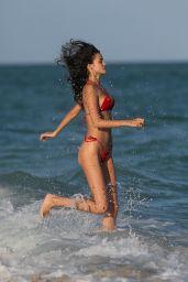 Sofia Resing in a Skimpy Red Bikini - Miami 12/08/2017