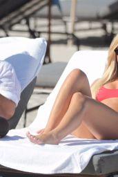 Sofia Richie in a Red Bikini on the Beach in Miami Beach