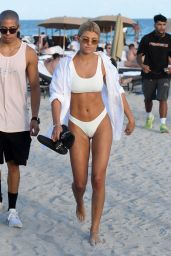 Sofia Richie in a White Bikini - Jet Ski Ride in Miami