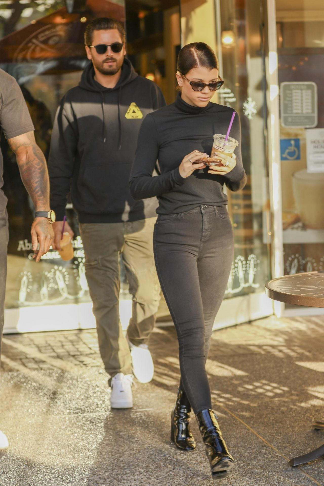 Sofia Richie Street Style - With Scott Disick at Coffee ...