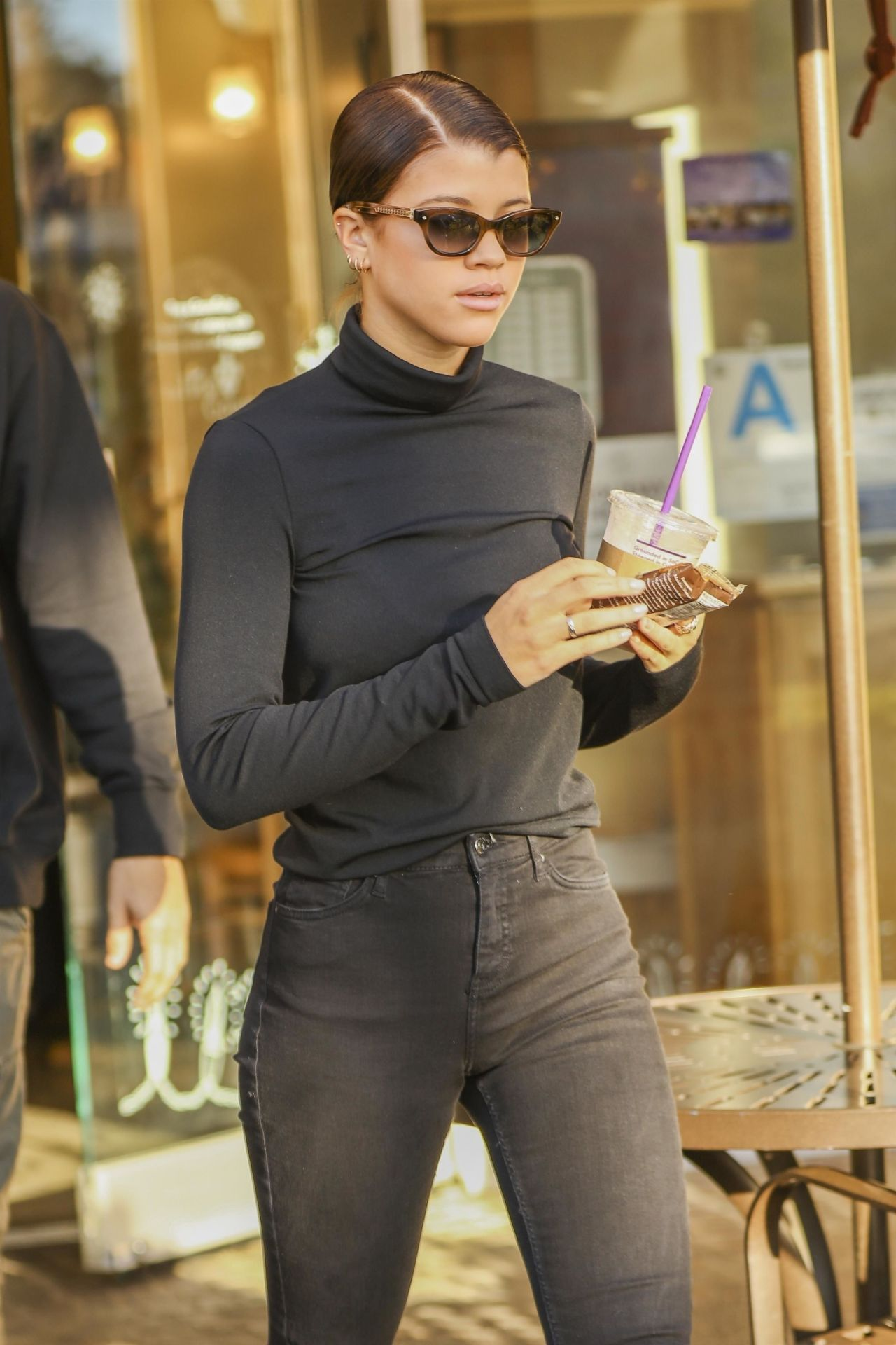 Sofia Richie Street Style With Scott Disick At Coffee