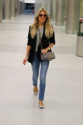 Sylvie Meis in Travel Outfit at Miami Airport