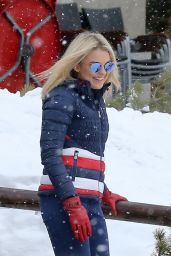 Tallia Storm Having Fun in the Snow at St Moritz