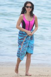 Tammin Sursok in a Pink Swimsuit - Balmoral Beach 12/18/2017