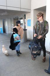 Vanessa Hudgens and Boyfriend Austin Butler - LAX Airport 12/16/2017
