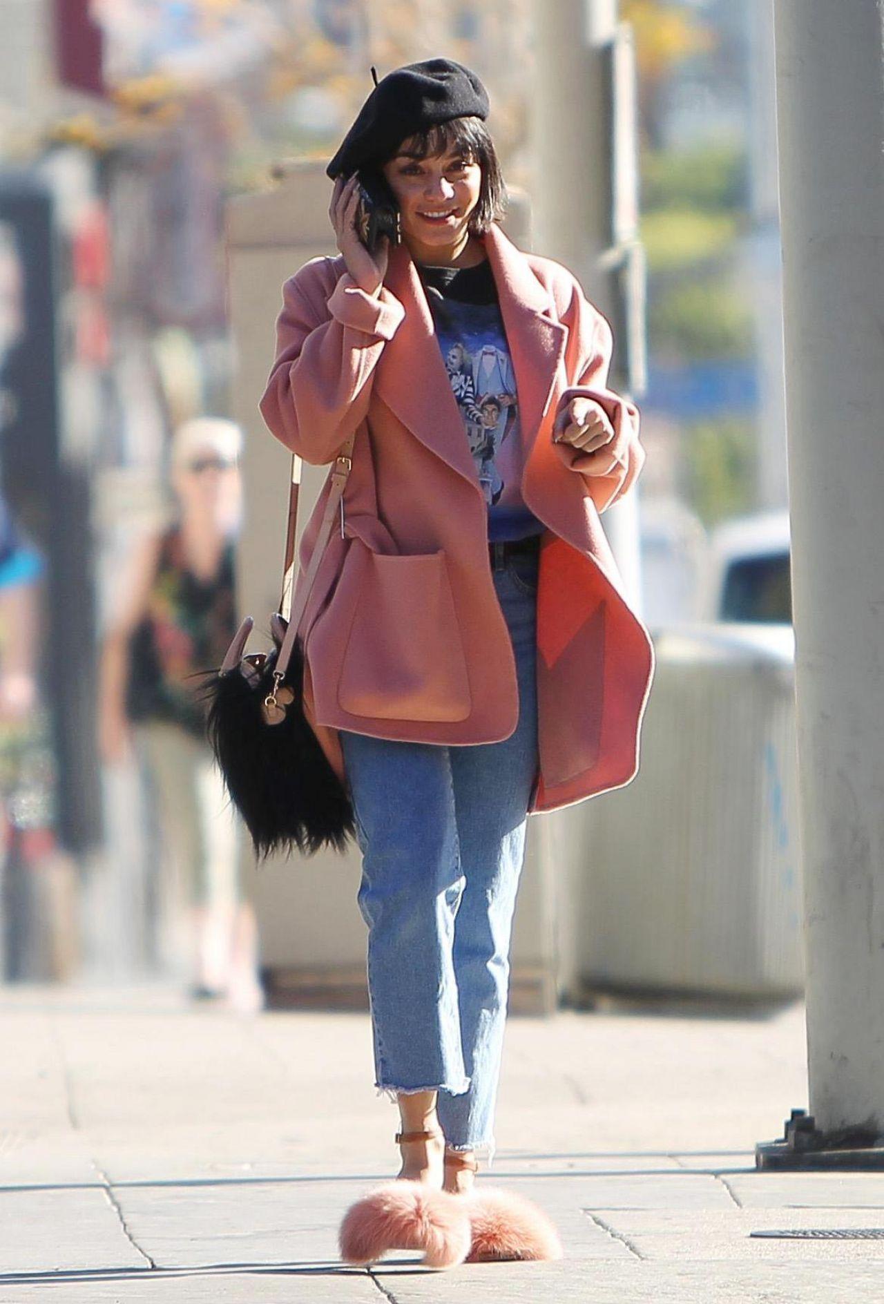 Vanessa Hudgens Street Style - Out in LA 12/29/2017