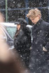Vanessa Hudgens - Walking Under the Snow with Austin Butler in NYC
