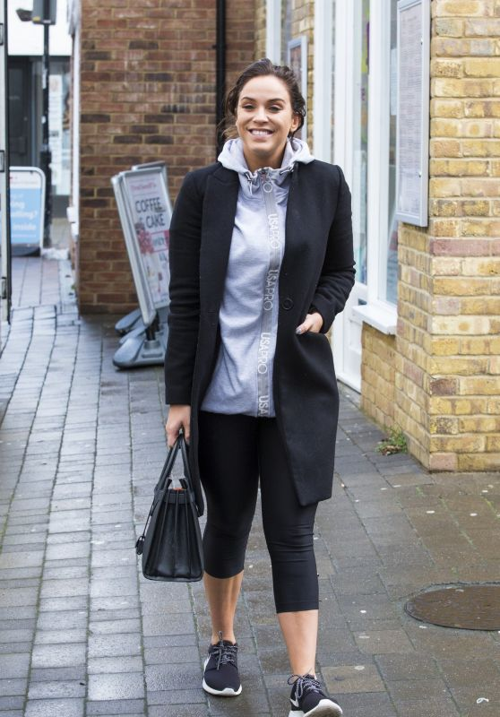 Vicky Pattison Street Style - Brentwood, Essex 12/13/2017