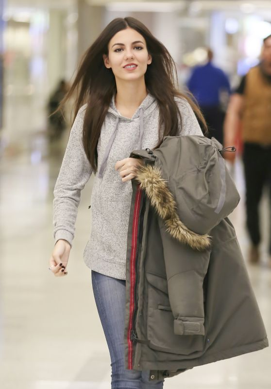 Victoria Justice at LAX Airport in Los Angeles