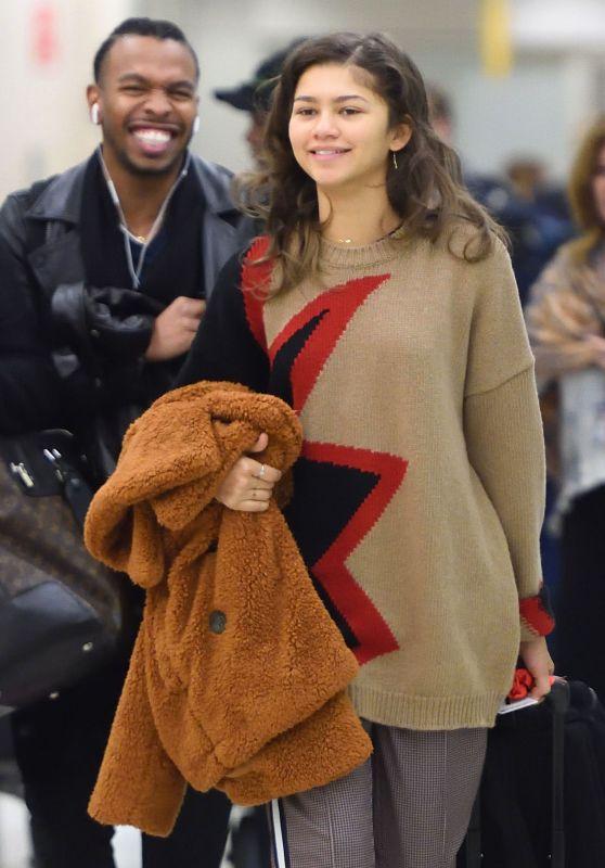 Zendaya at JFK Airport in NYC 12/07/2017