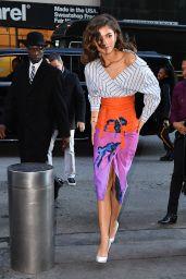 Zendaya in a Printed Skirt - New York City 12/11/2017
