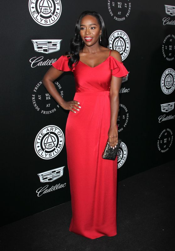 "Aja Naomi King – The Art of Elysium Black Tie Artistic Eperience ""Heaven"" in Santa Monica"