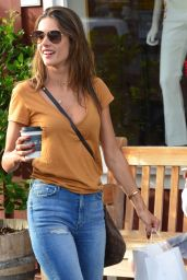 Alessandra Ambrosio at Caffe Luxe in Brentwood 01/30/2018