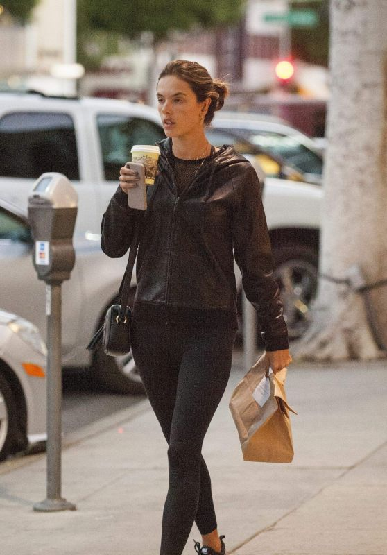 Alessandra Ambrosio at Urth Cafe in Beverly Hills