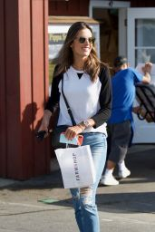 Alessandra Ambrosio Casual Style - Out in Brentwood 01/18/2018