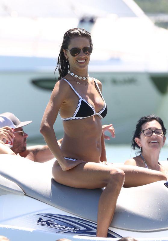 Alessandra Ambrosio in Bikini on a Jet Ski Ride - Florianopolis, Brazil