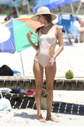 Alessandra Ambrosio in Swimsuit at the Beach Praia Brava