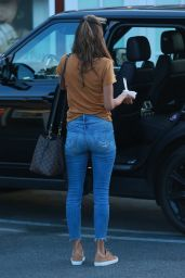Alessandra Ambrosio in Tight Jeans Leaves Brentwood Country Mart