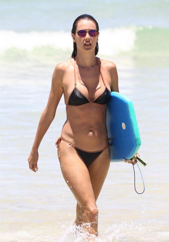 Alessandra Ambrosio Looking Perfect in a Black Bikini
