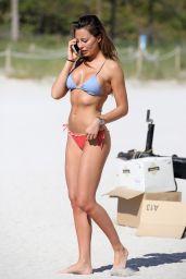 Alessia Tedeschi in Bikini on the Neach in Miami